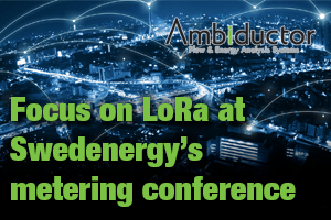 Focus on LoRa at Swedenergy's metering conference
