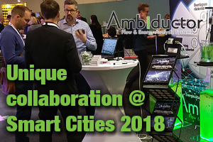 Unique collaboration at Smart Cities-conference 2018