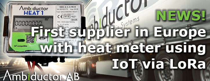 First supplier in Europe with heat meters using IoT via LoRa